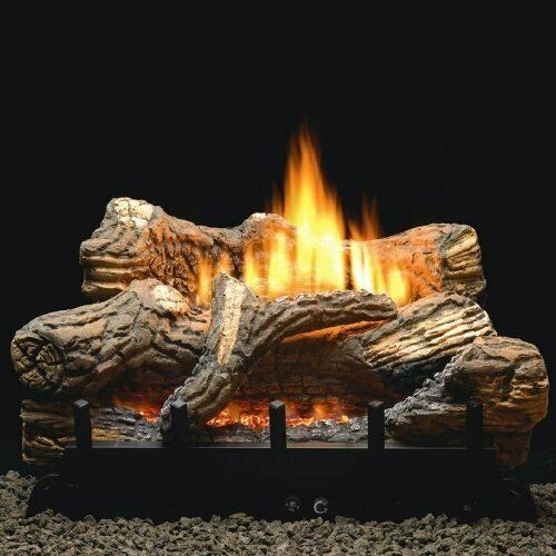 Empire 24 Inch Flint Hill Gas Log Set With Vent Free Propane Contour Burner