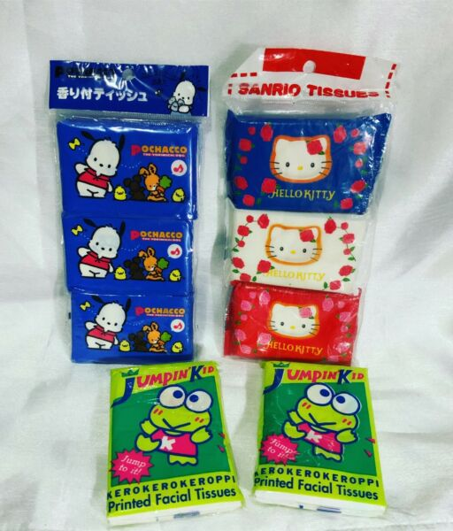 A Very Rare Unopened Vintage Sanrio Lot Of Vintage Tissues