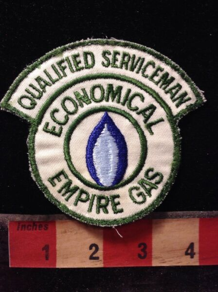 Vtg EMPIRE GAS PATCH Propane Gas amp; Energy Industry QUALIFIED SERVICEMAN 66E8 $6.15