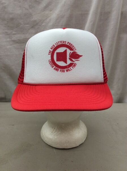 trucker hat baseball Cap NEW The Red Letters Project Mesh Snapback otto