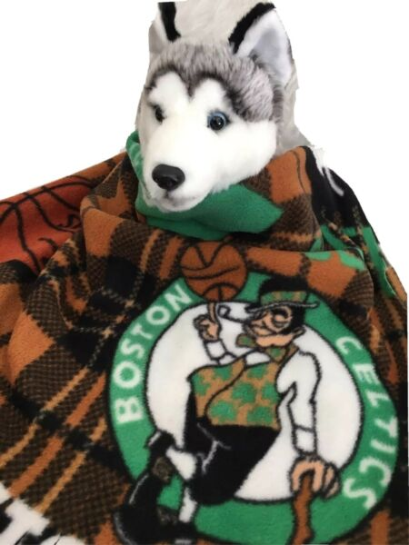 BOSTON CELTICS Fuzee Fleece Dog BlanketsSoft Pet Blanket Travel Throw Cover $16.20