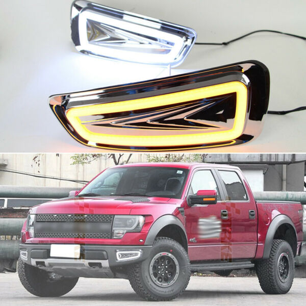 LED DRL Turn Indicator Signal Daytime Running Fog lights Fit For Ford F-150 10+