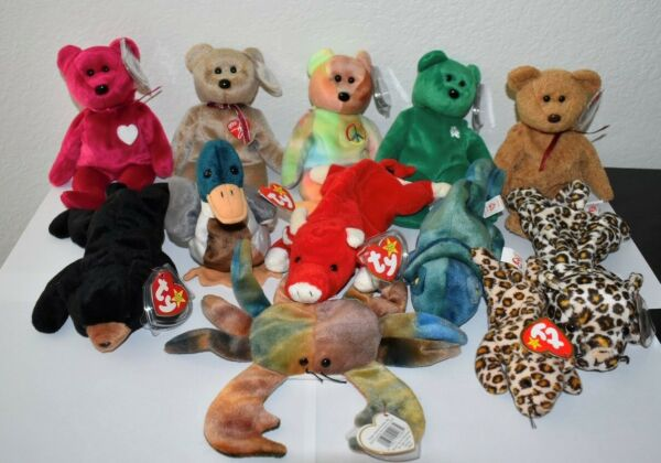 Mega Set of EXTREMELY RARE Beanie Babies 1995 1996 1998 1999 with ERRORS