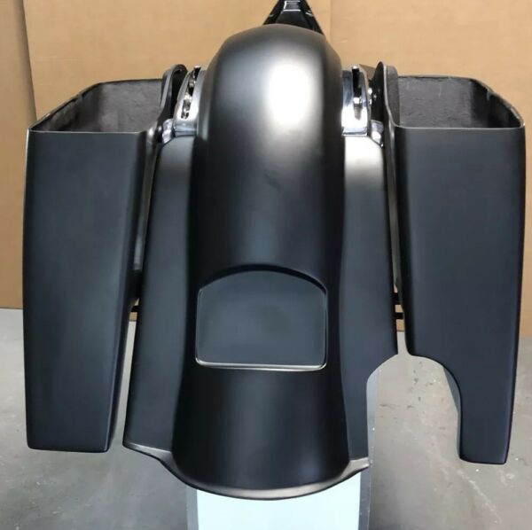 6quot; EXTENDED STRETCH BAGS AND REAR FENDER FOR TOURING MODELS 14 18 SINGLE EXHAUST $685.00