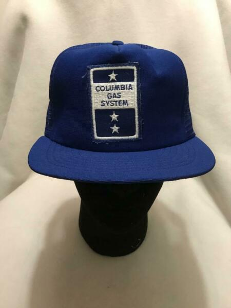 Vintage Columbia Gas System Patch Trucker Snapback Hat Made in USA $20.00