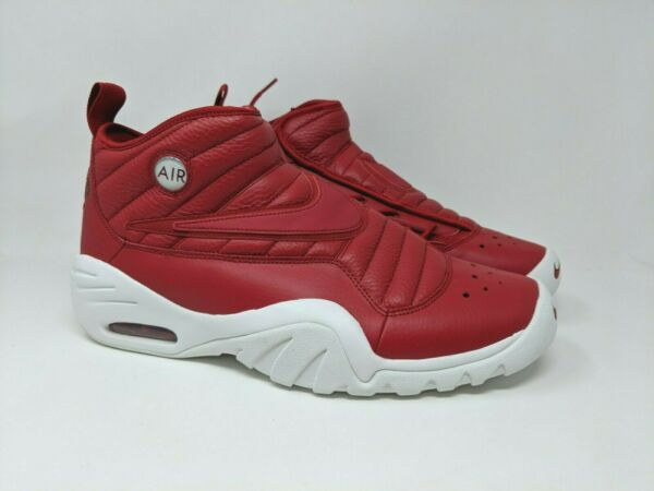 Nike Air Shake Ndestrukt Men's Red Leather Basketball Shoes 880869-600 Size 12