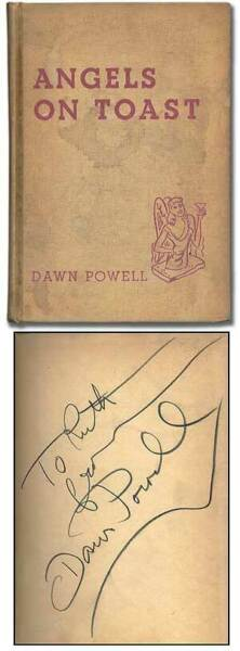Dawn POWELL  Angels on Toast Signed 1st Edition 1940