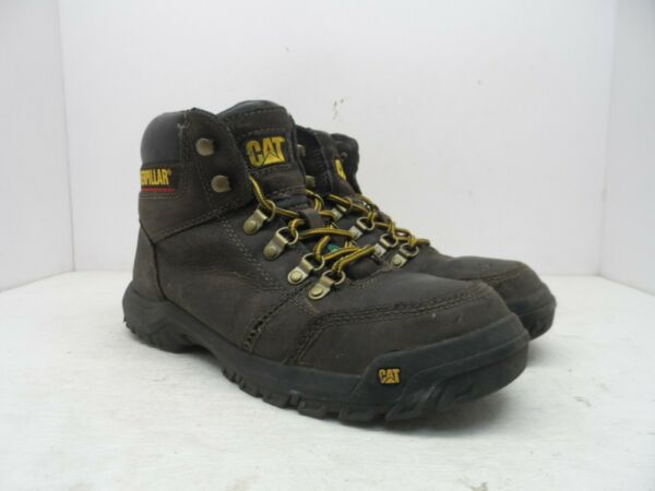 CATERPILLAR CAT Men's Outline STSP Leather Work Boots Brown 8.5 W