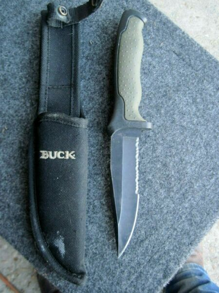 BUCK FIXED BLADE KNIFE WITH SHEATH MODEL #655 1