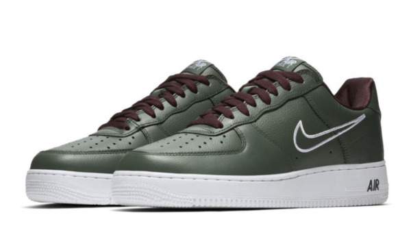 Nike Mens Air Force 1 Low Retro Size 7.5 Hong Kong Forest Green White 845053 300