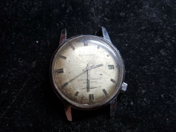RARE NEWPORT ULTRA HIGH FREQUENCY ELECTRIC WATCH R. GSELL WATCH FOR PARTS NO BAC
