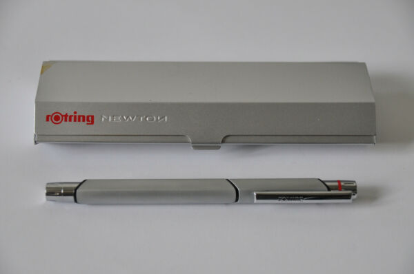 rOtring NEWTON Silver Chrome Nib F COLLECTABLE Pen German Industrial Design
