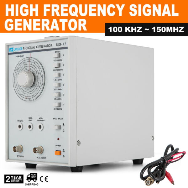 Signal Generator High Frequency RFAM 100 KHz-150MHz Accuracy +-5% TSG-17 110V