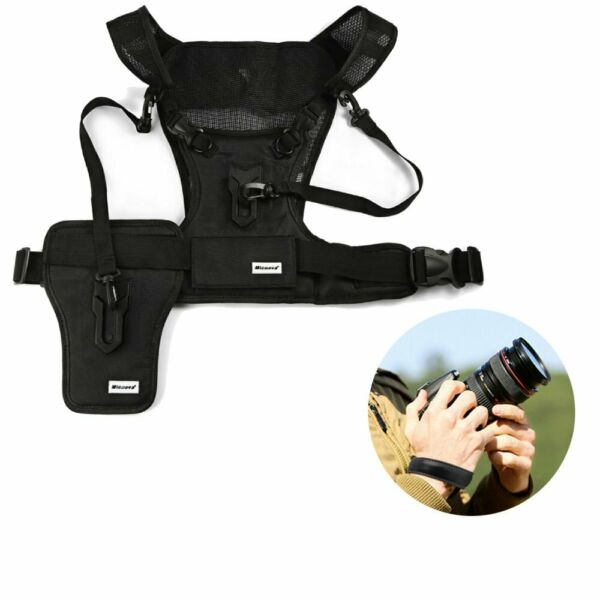 NEW Multi-functional Chest Harness Carrier Holster System Vest Camera Strap TN
