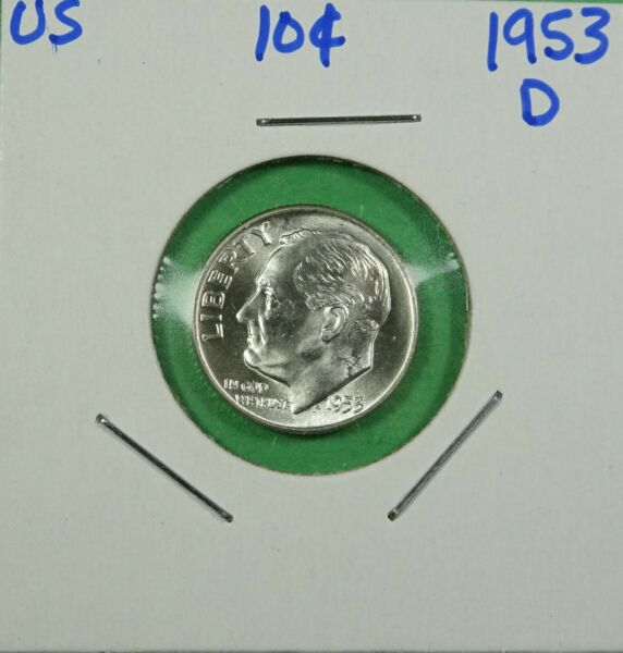 1953-D Roosevelt Dime   Choice to Gem Uncirculated