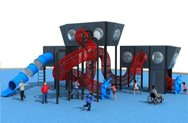 50x40x25 Outdoor Playground ASTM Commercial Playset Equipment Slide We Finance