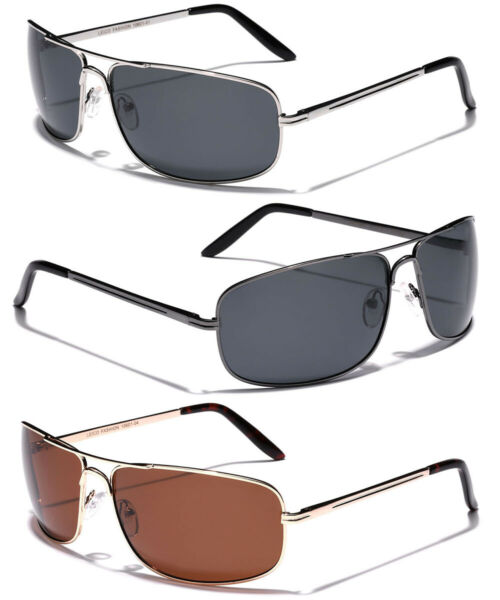 Large Polarized Men Square Aviator Sunglasses Fishing Driving Glasses 4 Big Head