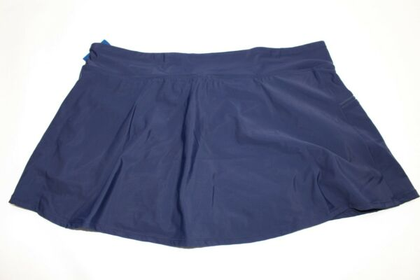 Shape Solver Swim Skort Swim Skirt With Built-in Shorts 16W Navy