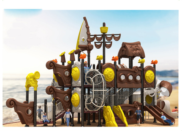 40x38x25 Outdoor Playground ASTM Commercial Playset Equipment Slide We Finance