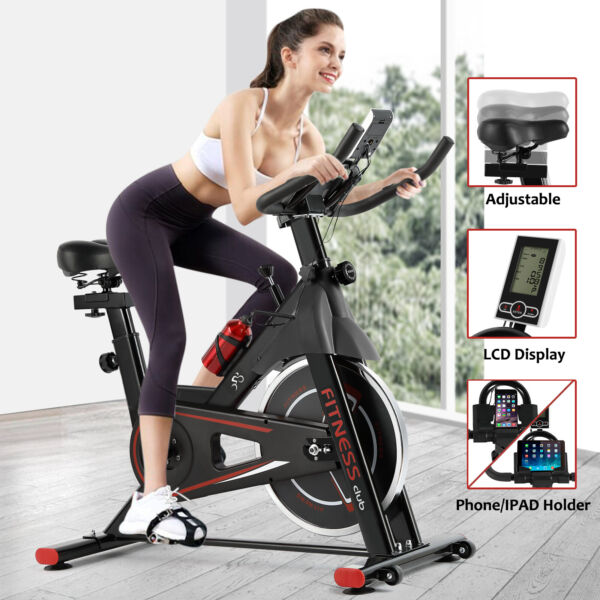 Cycling Bike Exercise Stationary Bike W phone Mount Cardio Workout Home Indoor $199.99