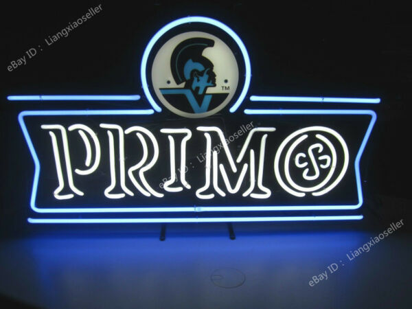 Primo Hawain Beer Brewery Keg REAL GLASS NEON SIGN BEER BAR PUB LIGHT Free Ship