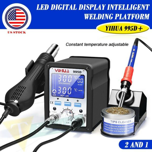 YIHUA 995D 60W Hot Air Soldering Station Iron Solder For Motherboard Repair Tool