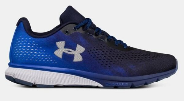 UNDER ARMOUR UA CHARGED PATRIOT RARE RUNNING SHOE HARD TO FIND NAVY SNEAKER