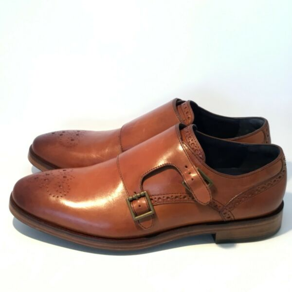 Cole Haan Hamilton Grand Double Monk Dress Shoes British Leather C25451 size 8 $109.99