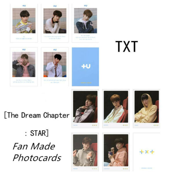 Kpop TXT The Dream Chapter: Star Autograph Photocard Paper Photo Cards 5pcs set