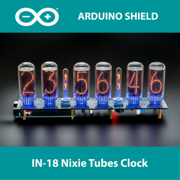 Nixie Tubes Clock IN-18 Arduino Shield NCS318 with Columns [TUBES OPTIONAL]