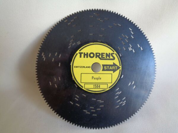 VINTAGE THORENS DISC FOR AD30 AUTOMATIC MUSIC BOX PEOPLE $9.99