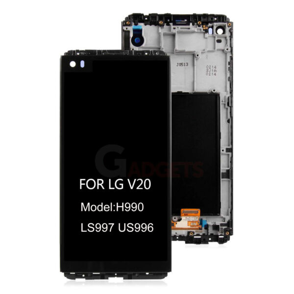 For LG V20 H990 LS997 US996 LCD Display Touch Screen Digitizer Frame Replacement
