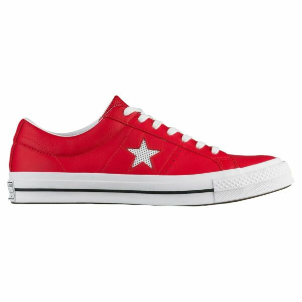 Converse Sneakers One Star Ox Red/White Leather Athletic Fashion New (158466C)
