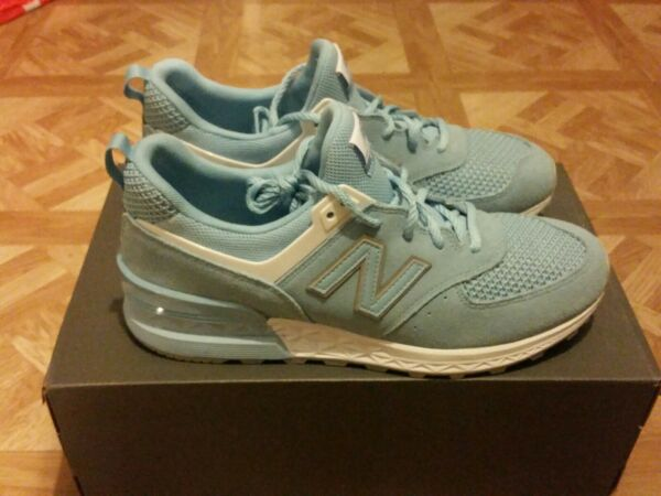 New Balance 574 Sport MS574STB Size 11 Baby Blue/White Brand New