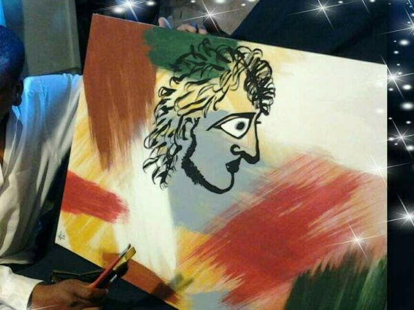 Alexander The Great  Artwork Original One Of A Kind  Painting Celebrity Romen