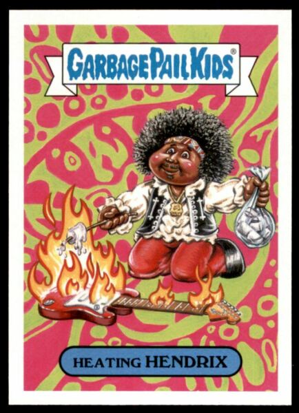 2017 Garbage Pail Kids Battle of the Bands Classic Rock #9b Heating Hendrix