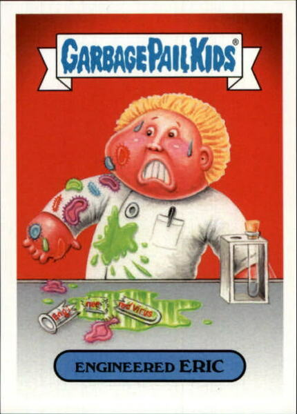 2017 Garbage Pail Kids Adam-Geddon Bio and Tech #5a Engineered Eric