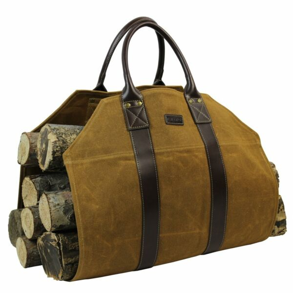 INNO STAGE Log CarrierWaxed Canvas Log HolderFirewood Carrier Tote BagFirepla