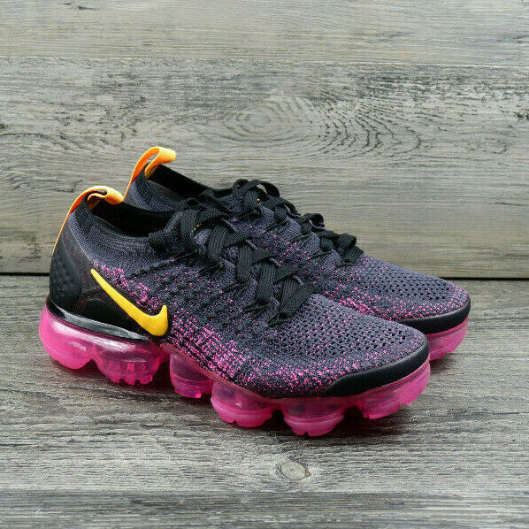 Nike Vapormax Flyknit Womens Running Shoes Pink Black Sneakers Size 5 942843-008