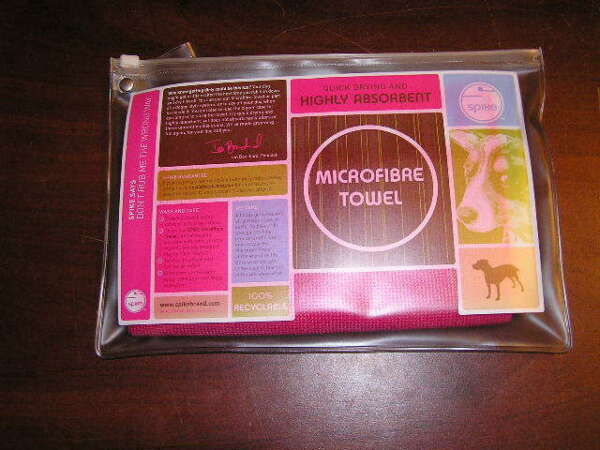 NEW PINK SPIKE Brand Microfiber Dog Towel Quick Drying Highly Absorbent 20quot;x32quot; $6.29