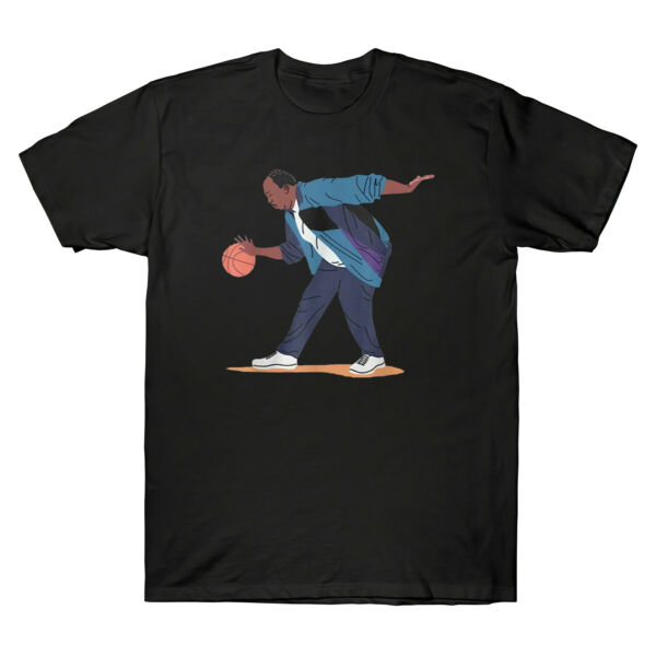 Stanley From The Office Play Basketball Funny Men's Black Cotton T-Shirt Tee Top