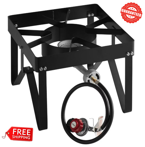 Square Single Burner Liquid Propane Outdoor Patio Stove  Range - 55000 BTU