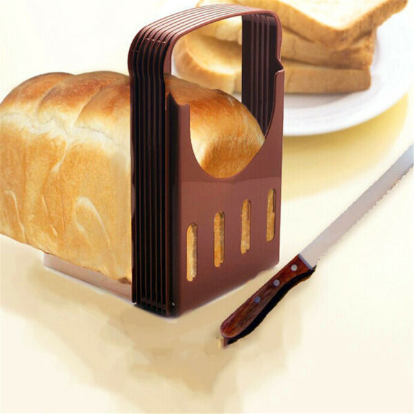 Practical Bread Cutter Loaf Toast Slicer Cutting Slicing Guide Kitchen Tool *OJ