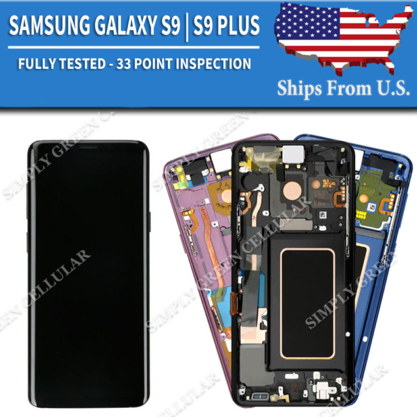 Samsung Galaxy S9  S9 Plus LCD Replacement Screen Digitizer + Frame (A)