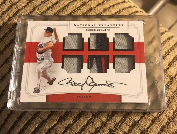 2017 National Treasures Roger Clemens Six Swatch 6x Jsy Patch Auto #13 11 Read