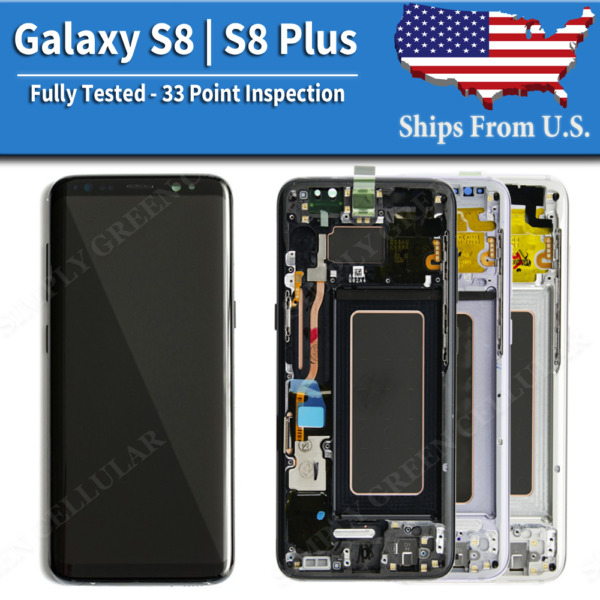 Samsung Galaxy S8  S8 Plus LCD Replacement Screen Digitizer With Frame (A)