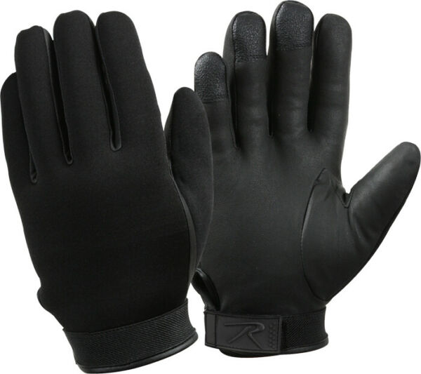 Black Insulated Military Waterproof Cold Weather Gloves
