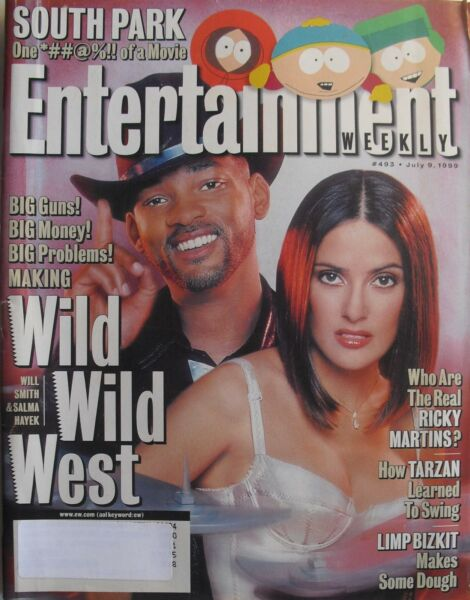 SALMA HAYEK  WILL SMITH July 1999 ENTERTAINMENT WEEKLY Magazine