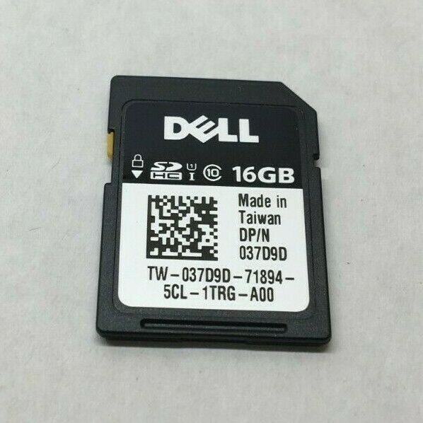 GENUINE DELL 16GB vFLASH CLASS 10 HC SECURE DIGITAL SD CARD 37D9D 7GH0Y H1H8M