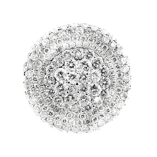 $16995   6.25 Ct White Gold Diamond Pave Set Cocktail Fashion Women's Ring 14 Kt